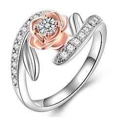 preiswerte Ringe-Damen Kubikzirkonia Stapel Ring - Blume Modisch 6 / 7 / 8 Rotgold Für Geschenk