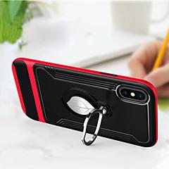Недорогие Кейсы для iPhone-Кейс для Назначение Apple iPhone X со стендом / Кольца-держатели Кейс на заднюю панель броня Твердый ТПУ для iPhone X