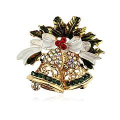 お買い得  ブローチ-女性用 クラシック ブローチ  -  ベル クラシック ブローチ ゴールド 用途 クリスマス