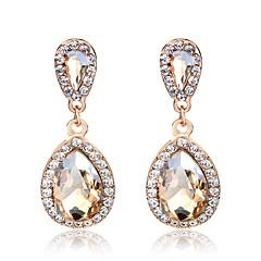 preiswerte Ohrringe-Damen Quaste / 3D Tropfen-Ohrringe - Strass, vergoldet Birne Einfach, Klassisch, Modisch Champagner Für Alltag / Strasse