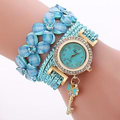 preiswerte Damenuhren-Damen Armbanduhr Quartz Armbanduhren für den Alltag bezaubernd Imitation Diamant PU Band Analog Modisch Elegant Schwarz / Weiß / Blau - Blau Rosa Hellblau Ein Jahr Batterielebensdauer
