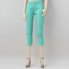 abordables Ropa para Barbies-Pantalones Pantalones, Pantalonetas y Licras por Muñeca Barbie  Verde Satén Elástico Pantalones por Chica de muñeca de juguete