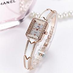 preiswerte Damenuhren-Damen Armband-Uhr Quartz Armbanduhren für den Alltag lieblich Edelstahl Band Analog Blume Freizeit Grün / Gold - Silber Gold
