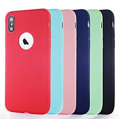 Недорогие Кейсы для iPhone 6 Plus-Кейс для Назначение Apple iPhone XR / iPhone XS Max Ультратонкий / Матовое Кейс на заднюю панель Однотонный Мягкий ТПУ для iPhone XS / iPhone XR / iPhone XS Max