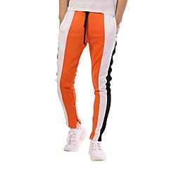 povoljno Muške hlače-Muškarci Osnovni / Ulični šik Pamuk Slim Sportske hlače Hlače Color block