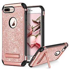 Недорогие Кейсы для iPhone-BENTOBEN Кейс для Назначение Apple iPhone 8 / iPhone 8 Plus Защита от удара / со стендом / Покрытие Кейс на заднюю панель Сияние и блеск Твердый Кожа PU / ТПУ / ПК для iPhone 8 Pluss / iPhone 8