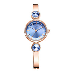 preiswerte Damenuhren-Damen Armbanduhr Quartz 30 m Armbanduhren für den Alltag Imitation Diamant Legierung Band Analog Modisch Elegant Silber / Rotgold - Silber Blau Rotgold