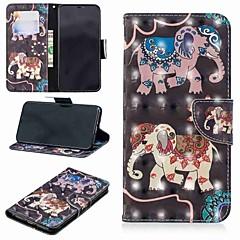 Недорогие Кейсы для iPhone 7-Кейс для Назначение Apple iPhone XR / iPhone XS Max Кошелек / Бумажник для карт / со стендом Чехол Слон Твердый Кожа PU для iPhone XS / iPhone XR / iPhone XS Max