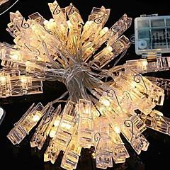 preiswerte LED Lichtstreifen-1m Leuchtgirlanden 40 LEDs Warmes Weiß Dekorativ AA-Batterien angetrieben 1 set