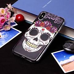 Недорогие Кейсы для iPhone X-Кейс для Назначение Apple iPhone XS / iPhone XS Max IMD / Полупрозрачный Кейс на заднюю панель Черепа Мягкий ТПУ для iPhone XS / iPhone XR / iPhone XS Max