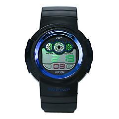 お買い得  ラグジュアリー腕時計-男性用 スポーツウォッチ デジタル ブラック 30 m 耐水 夜光計 クール デジタル ぜいたく ファッション - グリーン ブルー ローズゴールド