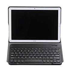 お買い得  タブレット用ケース-ケース 用途 Huawei MediaPad MediaPad M5 10 / Y5 II / Honor 5 キーボード付き フルボディーケース ソリッド ハード PUレザー のために MediaPad M5 10