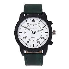 お買い得  メンズ腕時計-男性用 リストウォッチ クォーツ 新デザイン カジュアルウォッチ 大きめ文字盤 合金 バンド ハンズ カジュアル ファッション ブラック / 白 / ブラウン - グレー Brown グリーン 1年間 電池寿命