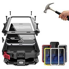 Недорогие Кейсы для iPhone-Кейс для Назначение Apple iPhone XR / iPhone XS Max Защита от удара / Защита от пыли / Защита от влаги Чехол Однотонный Твердый Металл для iPhone XS / iPhone XR / iPhone XS Max