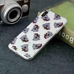 Недорогие Кейсы для iPhone X-Кейс для Назначение Apple iPhone XR / iPhone XS Max Прозрачный / С узором Кейс на заднюю панель Животное Мягкий ТПУ для iPhone XS / iPhone XR / iPhone XS Max