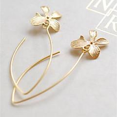 preiswerte Ohrringe-Damen Vintage Stil Tropfen-Ohrringe - Blume Retro, Elegant Gold Für Alltag Ausgehen