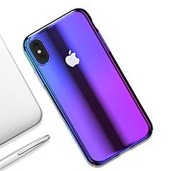 Недорогие Кейсы для iPhone-Кейс для Назначение Apple iPhone XR / iPhone XS Max Ультратонкий / Прозрачный Кейс на заднюю панель Градиент цвета Твердый ПК для iPhone XS / iPhone XR / iPhone XS Max