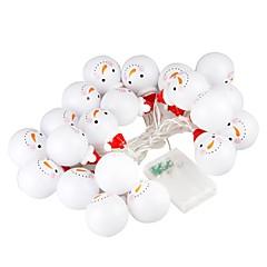 abordables Tiras de Luces LED-BRELONG® 2.2m Cuerdas de Luces 10 LED Blanco Cálido / RGB / Blanco Creativo / Fiesta / Decorativa Pilas AA alimentadas 1 juego