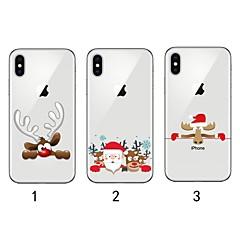 Недорогие Кейсы для iPhone X-Кейс для Назначение Apple iPhone XR / iPhone XS Max Ультратонкий / Прозрачный / С узором Кейс на заднюю панель Рождество Мягкий ТПУ для iPhone XS / iPhone XR / iPhone XS Max
