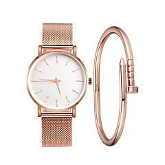 preiswerte Damenuhren-Damen Armbanduhr Quartz 30 m Kreativ Neues Design Legierung Band Analog Freizeit Modisch Schwarz / Silber / Gold - Schwarz Silber Rotgold