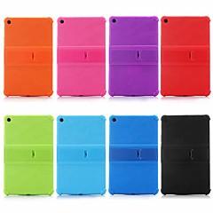 Недорогие Чехлы и кейсы для Xiaomi-Кейс для Назначение Xiaomi Xiaomi Tab 4 Plus Защита от удара / со стендом Кейс на заднюю панель Однотонный Мягкий силикагель для Xiaomi Tab 4 Plus