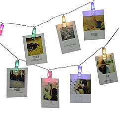 abordables Tiras de Luces LED-3M Cuerdas de Luces 20 LED Blanco / Azul / Multicolor Creativo / Boda / Decoración de la boda de Navidad 3 V 1 juego