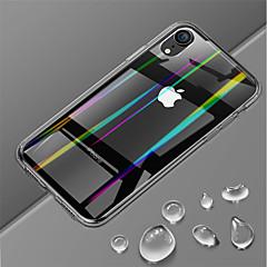Недорогие Кейсы для iPhone 7 Plus-Кейс для Назначение Apple iPhone XR / iPhone XS Max Ультратонкий / Прозрачный Кейс на заднюю панель Однотонный Твердый Закаленное стекло для iPhone XS / iPhone XR / iPhone XS Max