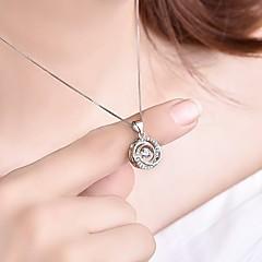 preiswerte Halsketten-Damen Kubikzirkonia 3D Anhänger - Stilvoll, Klassisch Anhänger Silber Für Verlobung / Alltag