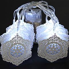 preiswerte LED Lichtstreifen-1m Leuchtgirlanden 10 LEDs Kühles Weiß Dekorativ AA-Batterien angetrieben 1 set
