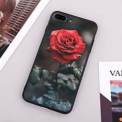 Недорогие Кейсы для iPhone 7-Кейс для Назначение Apple iPhone X / iPhone 8 Plus С узором Кейс на заднюю панель Цветы Твердый ТПУ для iPhone X / iPhone 8 Pluss / iPhone 8