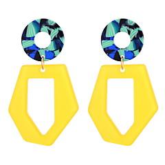 preiswerte Ohrringe-Damen Geometrisch Tropfen-Ohrringe - Stilvoll, Einfach, Einzigartiges Design Weiß / Gelb Für Party Normal