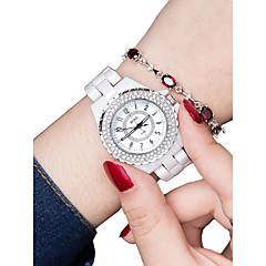 preiswerte Damenuhren-Damen Armbanduhr Quartz 30 m Wasserdicht Neues Design Keramik Band Analog Modisch Weiß - Silber Rotgold
