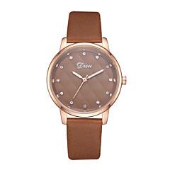 preiswerte Damenuhren-Damen Armbanduhr Quartz 30 m Kreativ Armbanduhren für den Alltag PU Band Analog Freizeit Modisch Schwarz / Weiß / Braun - Braun Rosa Leicht Grün