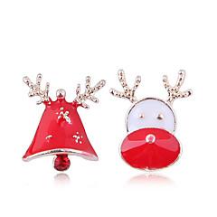 preiswerte Ohrringe-Damen Nicht übereinstimmend Ohrstecker - Elk, Trompetenärmel Europäisch, Modisch, nette Art Gold Für Weihnachten Alltag