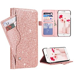 Недорогие Кейсы для iPhone-BENTOBEN Кейс для Назначение Apple iPhone 8 Plus / iPhone 7 Plus Бумажник для карт / Защита от удара / Флип Чехол Сияние и блеск Твердый Кожа PU / ПК для iPhone 8 Pluss / iPhone 7 Plus