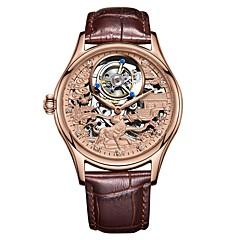 お買い得  メンズ腕時計-Angela Bos 男性用 機械式時計 手巻き式 30 m 耐水 透かし加工 新デザイン ステンレス バンド ハンズ ぜいたく ファッション ブラック / ブラウン - ゴールド シルバー ローズゴールド