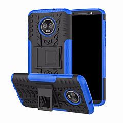 Недорогие Чехлы и кейсы для Motorola-Кейс для Назначение Motorola Moto G6 Plus со стендом Кейс на заднюю панель броня Твердый ПК для Moto G6 Plus
