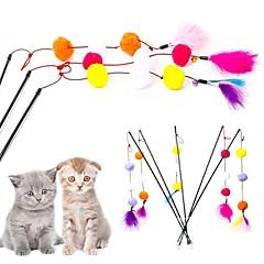 お買い得  猫用おもちゃ-ティーザー シンプル / ソフト / 軽量 プラスチック / プラッシュ 用途 猫用