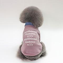 お買い得  犬用ウェア&アクセサリー-犬用 コート 犬用ウェア キャラクター / スローガン フクシャ / グリーン / ピンク プラッシュ コスチューム ペット用 男女兼用 カジュアル/普段着 / ウォームアップ