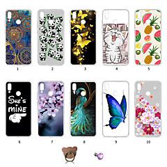 お買い得  Huawei Pシリーズケース/ カバー-ケース 用途 Huawei P20 lite 耐埃 / 超薄型 / パターン バックカバー バタフライ / 風景 / カラーグラデーション ソフト TPU のために Huawei P20 lite