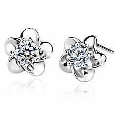 preiswerte Ohrringe-Damen Klassisch Ohrstecker - Blume Europäisch, Süß, Modisch Silber Für Normal Alltag