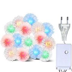 preiswerte LED Lichtstreifen-brelong led bunte wasserdichte urlaubsdekoration string haarkugel 1 stück