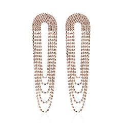 preiswerte Ohrringe-Damen Retro Tropfen-Ohrringe - versilbert, vergoldet Europäisch Gold / Silber Für Strasse
