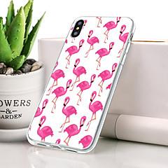 Недорогие Кейсы для iPhone-Кейс для Назначение Apple iPhone XS Max Защита от пыли / Ультратонкий / С узором Кейс на заднюю панель Фламинго Мягкий ТПУ для iPhone XS Max