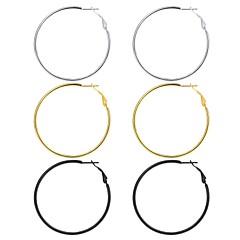 abordables Pendientes-Mujer Largo Pendients de aro - Moda Arco Iris Para Regalo Diario / 3 pares