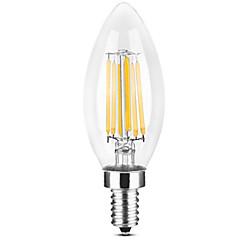 preiswerte LED-Birnen-YWXLIGHT® 1pc 6 W 500-600 lm E14 LED Kerzen-Glühbirnen / LED Glühlampen C35 6 LED-Perlen COB Warmes Weiß / Weiß 220-240 V