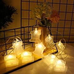 お買い得  LED ストリングライト-3M ストリングライト 20 LED 温白色 装飾用 単3乾電池 1セット