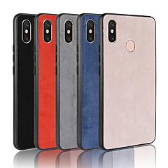 Недорогие Чехлы и кейсы для Xiaomi-Кейс для Назначение Xiaomi Xiaomi Mi Max 3 / Mi 8 SE Матовое Кейс на заднюю панель Однотонный Твердый Кожа PU для Xiaomi Redmi Note 6 / Xiaomi Redmi 6 Pro / Xiaomi Mi Max 3