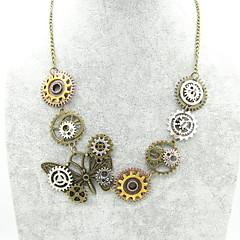 preiswerte Halsketten-Damen Statement Ketten - Schmetterling, Ausrüstung Retro, Steampunk Cool Bronze 56+5 cm Modische Halsketten Schmuck 1pc Für Karnival, Professionell
