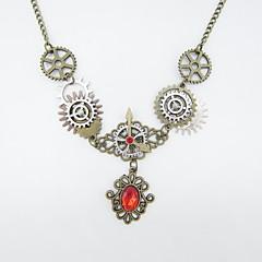 preiswerte Halsketten-Damen Synthetischer Rubin Vintage Halskette - Ausrüstung Klassisch, Steampunk Bronze 56+5 cm Modische Halsketten Schmuck 1pc Für Party / Abend, Nacht Besondere Anlässe